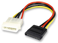 "Manhattan 6.5"" 4-pin (molex) to SATA Power Cable"