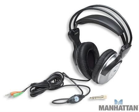 Manhattan Deluxe Stereo Headset with In-Line Microphone