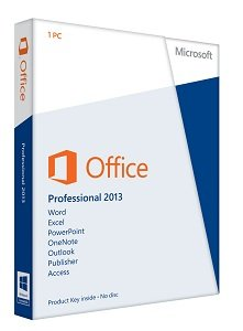 Microsoft Office 2013 Professional Key Card (1 user)