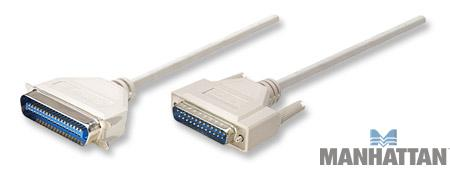 Manhattan 50' IEEE 1284 Printer Cable DB25 Male to CEN 36 Male