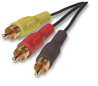 Manhattan 6' Triple-to-Triple RCA Cable