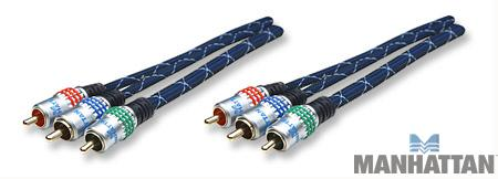 Manhattan 10' Component Video Cable