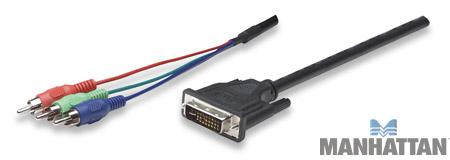 Manhattan 6' DVI 29-Pin to Triple RCA Cable