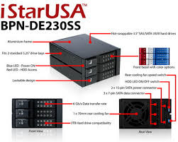 iStarUSA 3 Byas Trayless HDD cage for SAS or SATA HDDs