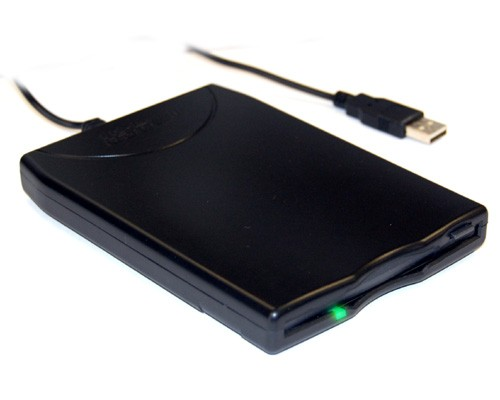 BT-144 Slim Black USB External Floppy Disk Drive