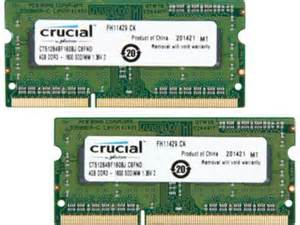 Crucial 8GB (2X4GB) DDR3 1600FSB 204pin