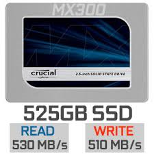 "Crucial MX300 525GB Solid State Drive 2.5"" SATA 6Gbs"