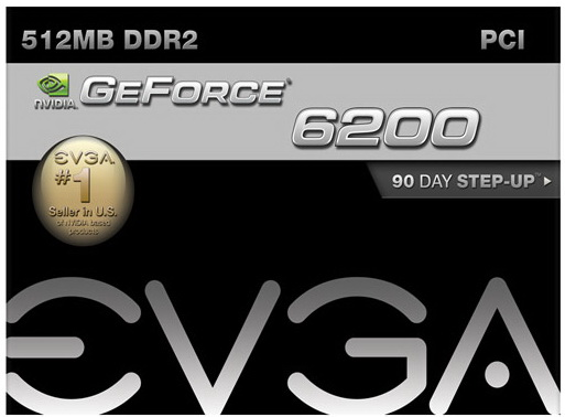 EVGA 6200 512MB PCI DVI/VGA/S video out