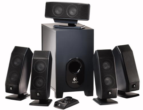 Logitec 5.1 speaker set with subwoofer retail