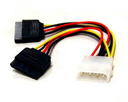 Molex to SATA Power Y Split Cable