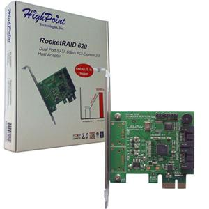 High Point RocketRaid R620 PCI-E with raid 0/1/5/10