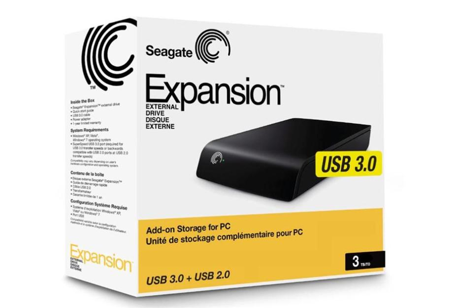 "Seagate 3TB 3.5"" Expansion external hdd"