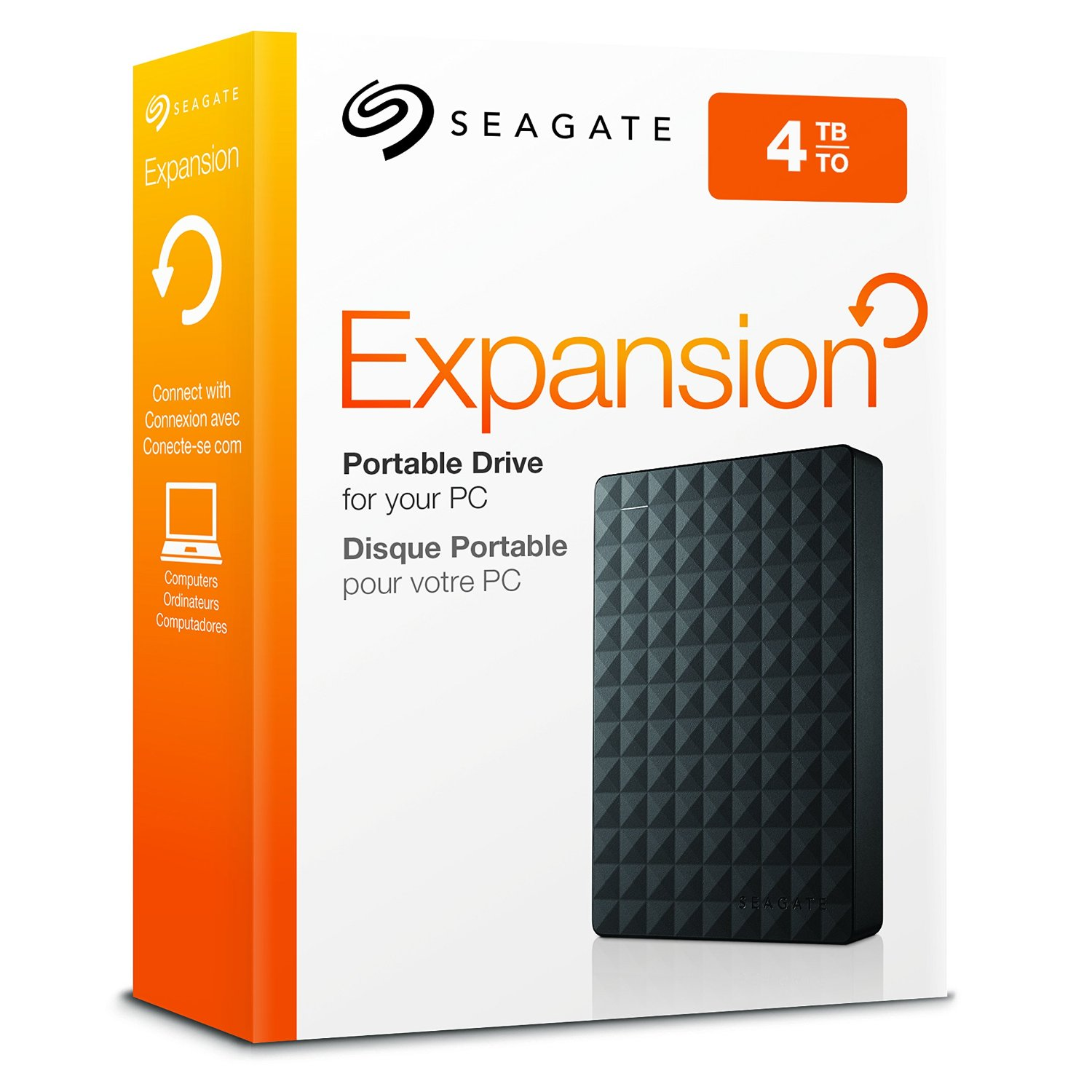 "Seagate Expansion 4TB 2.5"" USB 2.0 & 3.0 Portable external HDD r"
