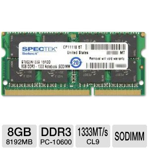 Crucial 8GB (1X8GB) DDR3 1600FSB 204pin