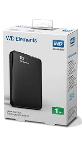 "WD Elements 1TB 2.5"" USB 2.0/3.0 external HDD"