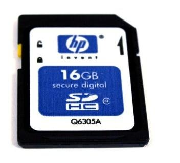 HP Secure Digital SDHC 16GB Flash Card Q6305A-EF