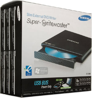 Samsung Slim External DVD writer SE-S084 retail box