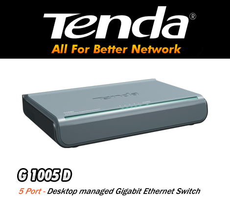 Tenda 5ports 10-100-1000 gigabit switch